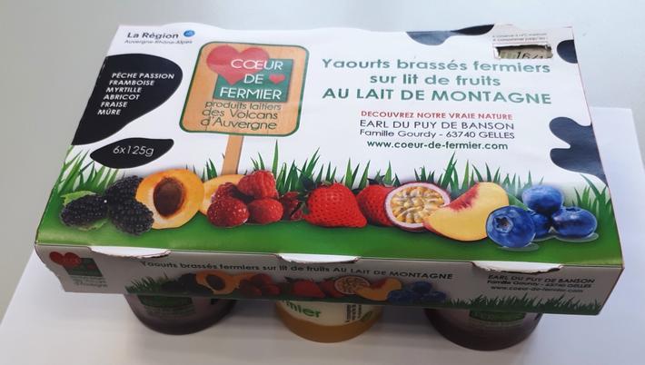 Yaourts brassés multifruits par 6