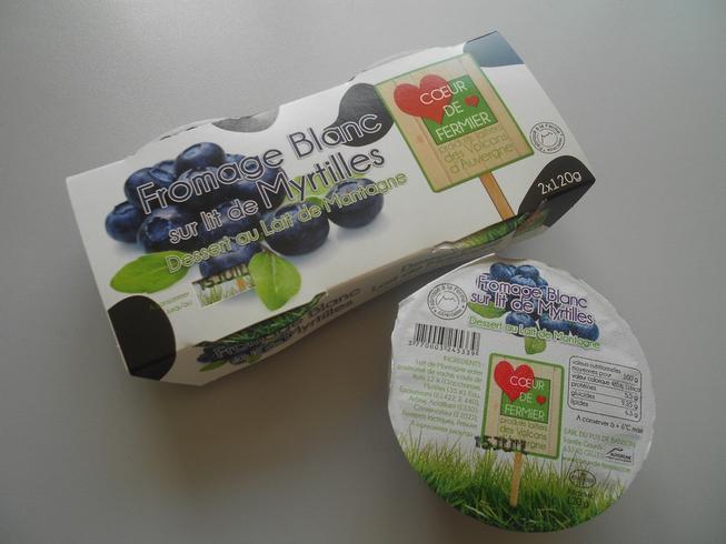 Fromage blanc sur lit de myrtille par 2