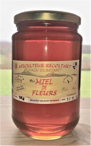 Miel de récolte fleurs mélangées 1Kg