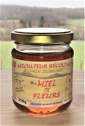 Miel de récolte fleurs mélangées 250g