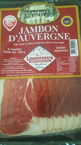 Jambon d'auvergne IGP 8 tranches 200g