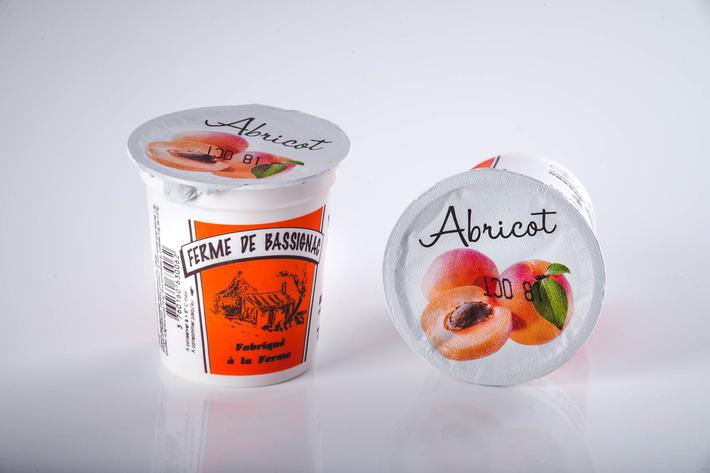 Yaourts abricots avec morceaux de fruits par 4