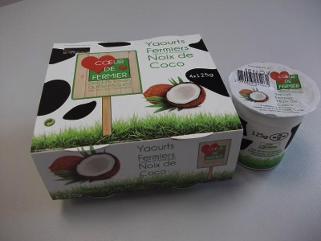 Yaourts noix de coco par 4